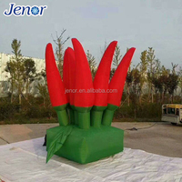 Giant Inflatable Chili Plant Hot Pepper Model for Decoration