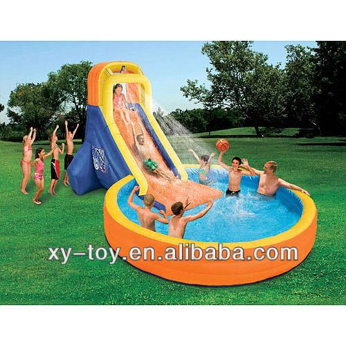 Inflatable Slide Walmart: أحدث شعبية نفخ شريحة المياه مع مسبح خاص للأطفال، لاعبا
