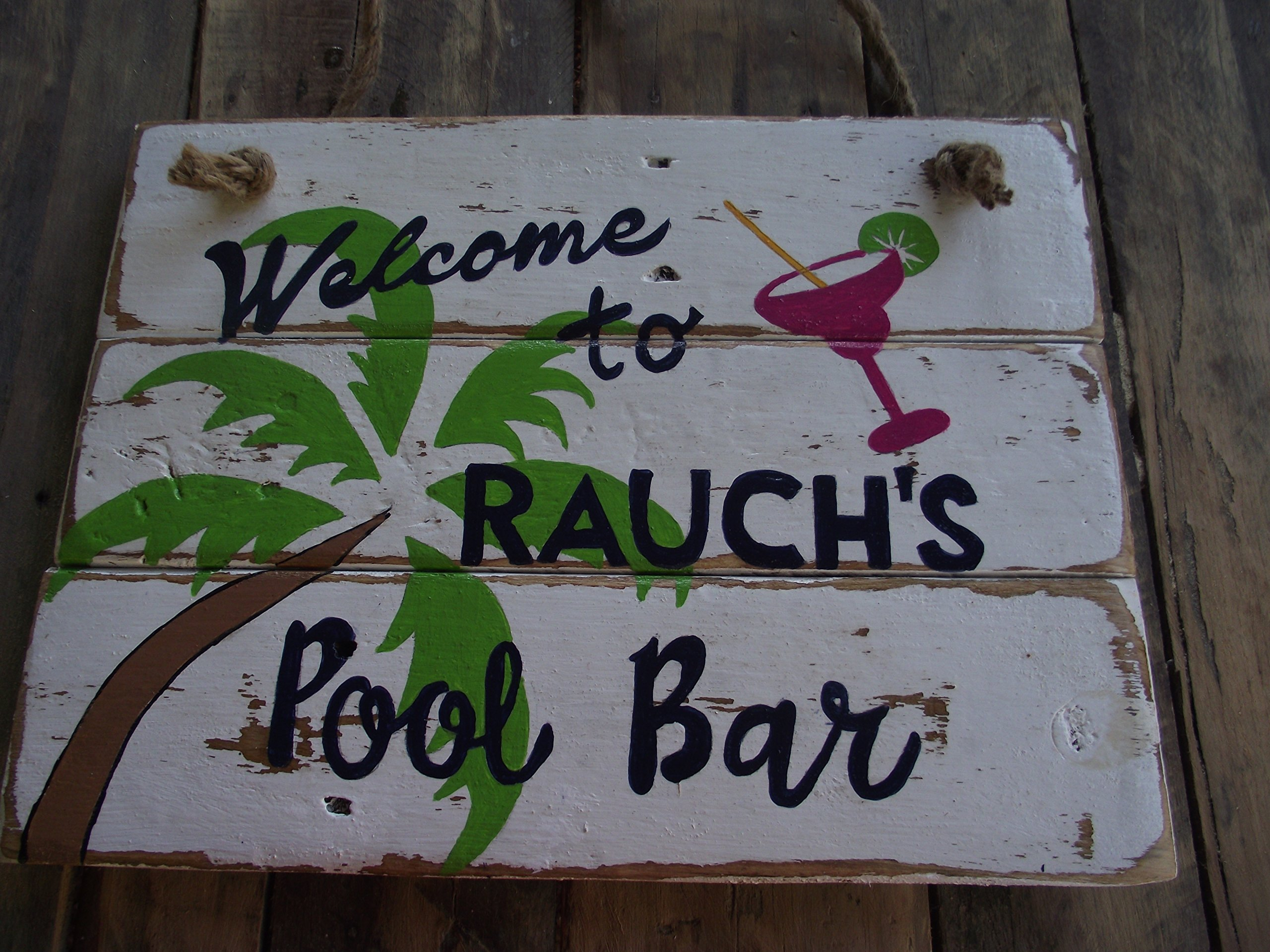 Personalized pool sign| custom pool sign| rustic pool sign| custom pool bar sign| Tropical custom bar sign| Tropical swimming pool sign| outdoor pool bar sign| welcome custom pool sign