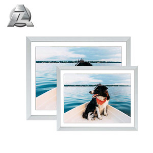 better price 25x35 silver thin metal photo picture frame