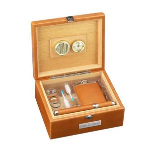 Deluxe Leather Cigar Gift Set