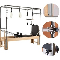 Commercial Home Use Fitness equipment Wooden Body Balanced Pilates cadillac Reformer