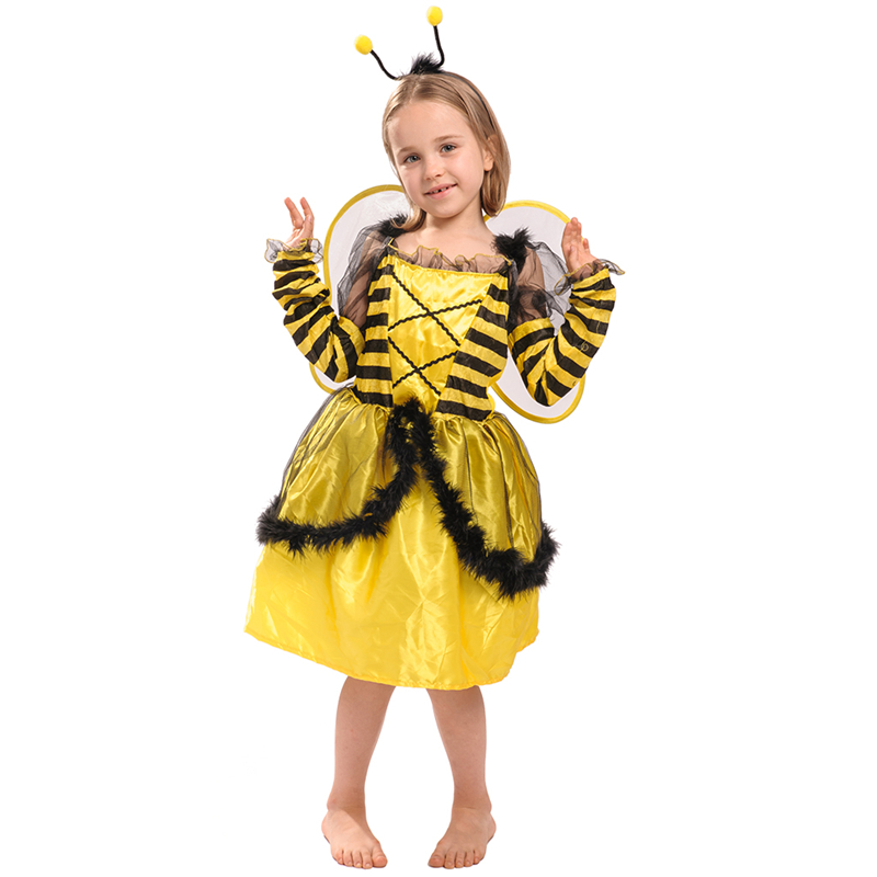 Kids Party Costume Cute Girls Bee Costume Dress For Children Buy