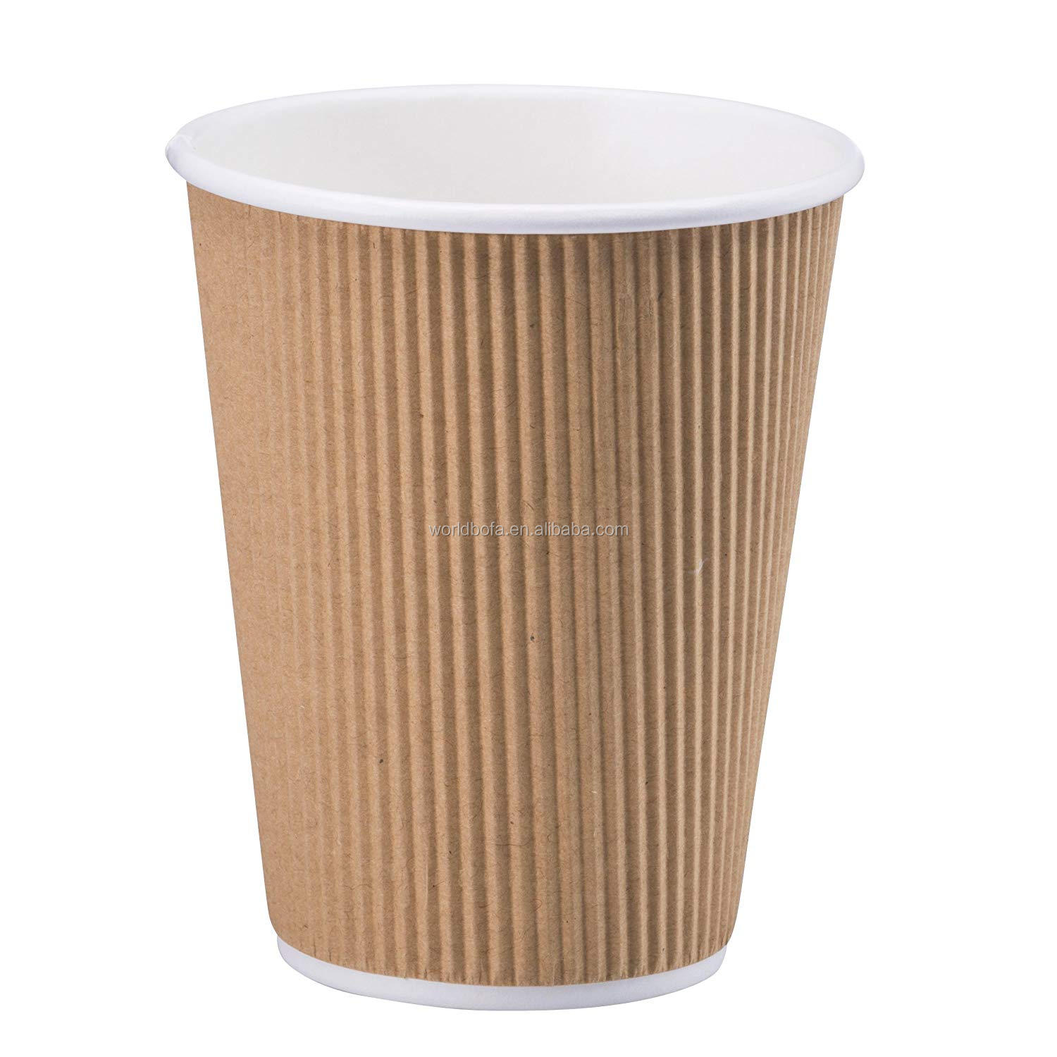 Custom Paper Coffee Cup Disposable with White Lids