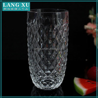 luxury tall carved glass candle jar for decoration