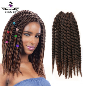 Hot products to sell online two colored synthetic braiding hair salt and pepper hair for braiding