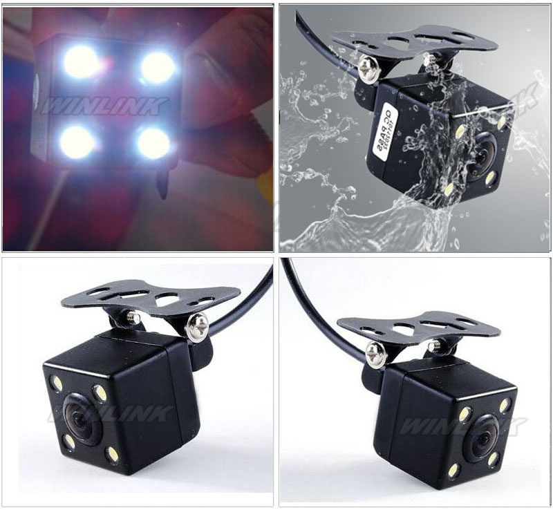 Универсальный 170 град. водонепроницаемая камера вид сзади автомобиля система помощи при парковке HD CCD с 4 из светодиодов ночного видения резервное копирование сторона