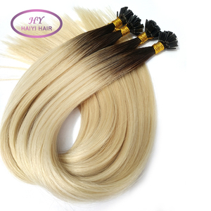 Pre Bonded U V I Flat Tip Hair Extension 1g Stick Tip Cold Fusion Hair 100% Virgin Cuticle Remy Keratin Human Hair Extensions