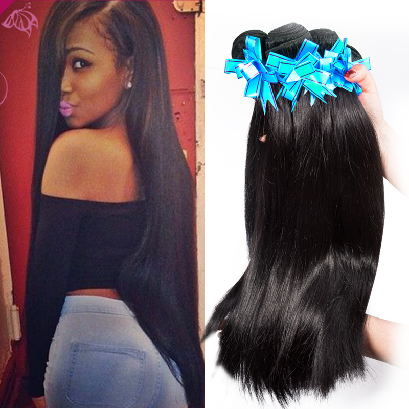 Hot 5 Bundles Cheap Peruvian Virgin Hair Straight 7A ...