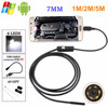7mm Android Endoscope OTG Micro USB Waterproof Borescopes Inspection Camera with 6 LED 5M Cable