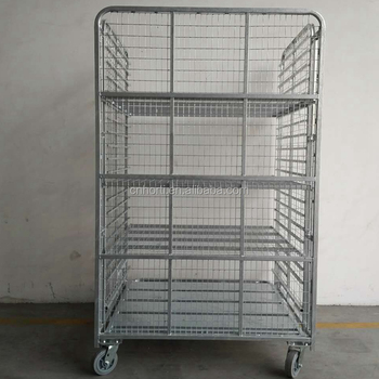 Warehouse Roll Cage Trolley / Roll Container - Buy Roll Cage  Trolley,Rolling Pallet Trolley,Roll Cage Product on Alibaba com