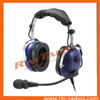 Association With independent volume control aircraft noise cancelling headset