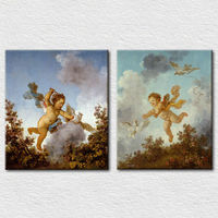 Modern printing canvas lovely baby picture for kids room wall decoration
