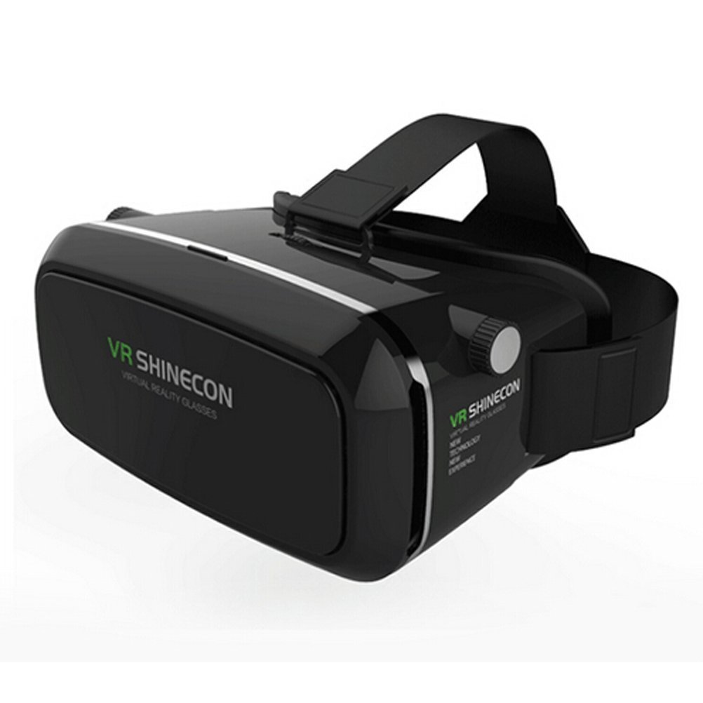 Myvision Virtual Reality VR Shinecon 3D Glasses Head Mount 3D Movies Games For 3.5-6.0 inch Phone without Bluetooth Remote Gamepad (Black)