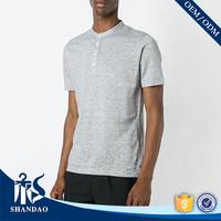 Guangzhou shandao factory short sleeve 200g 80%polyester 20%polyester mens summer clothing thailand