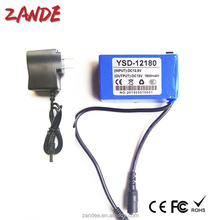 High quality Super 12V DC 1800mAh dc-168 12V lithium ion Battery for CCTV security system