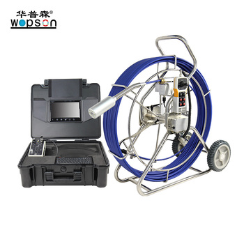 Fiberglass Cable Industrial Pipe Sewer Plumbing Camera  With Sim Card