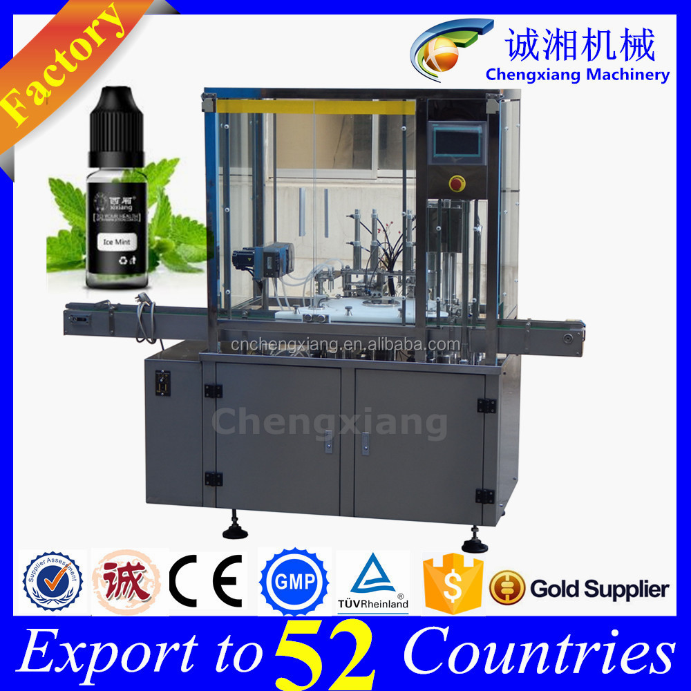 Shanghai factory 2 nozzles 10ml liquid automatic filling machine all in one,ejuice filler