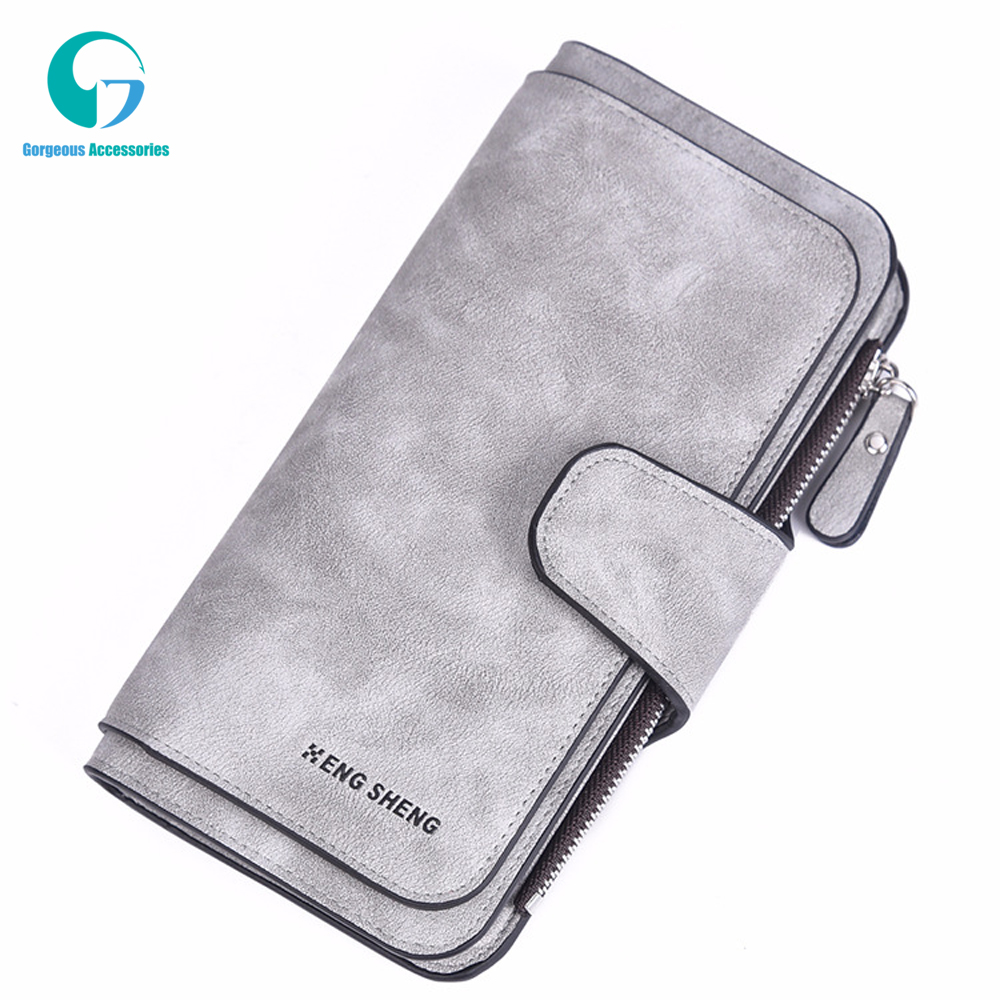 Wallet Women Scrub Leather Lady Purses High Quality Ladies Clutch Wallet Long Female Wallet