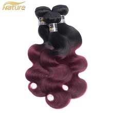 alibaba express brazil India import original brazilian human hair ombre 1b/99j body wave hair extension