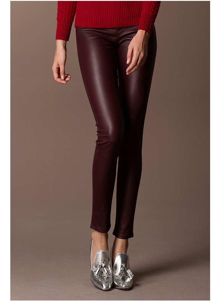 High End Design Custom Real Leather Leggings Trench Leather Pants