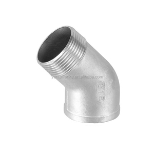 Stainless Steel 304 bend 45 degree elbow male female connectors