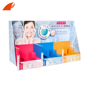 High Quality Cardboard E Paper Makeup Counter Display Hook Stand