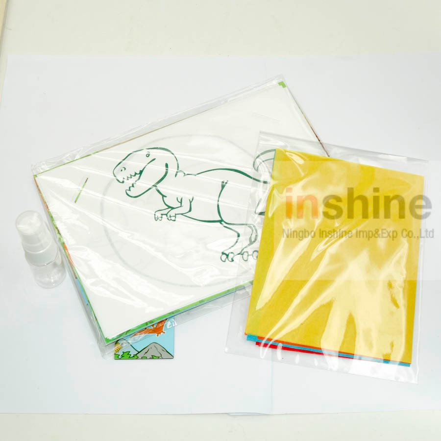CU2092 invisible ink printing playing kit,water spray visible ink playing kit