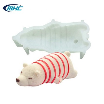 High Quality Sleep Bear Shape Silicone Cake Mold Mousse Mold