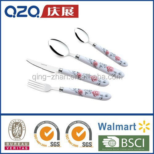 Cutlery with porcelain handle plastic handle PS handle T060