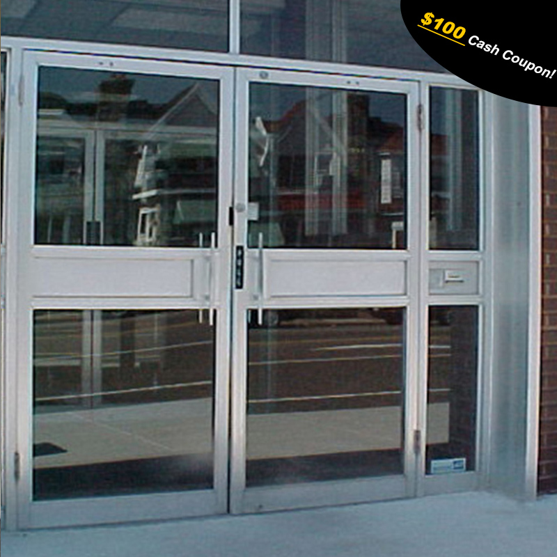Aluminum Frame Door With Glass Used For Kfc Shop - Buy Aluminum ...