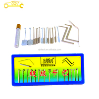 Professional Locksmith Supplies 18 Pcs GOSO Lock Picks Set With Tension Tools And Hooks for Double Locks