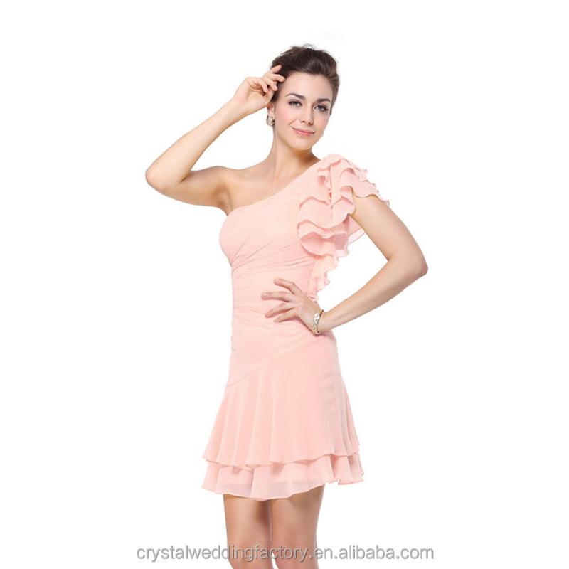 Venta al por mayor vestidos de damas de honor cortos azules-Compre ...