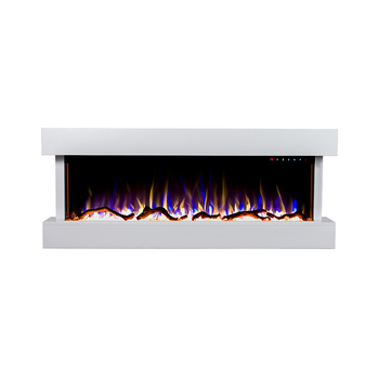 Luxury 50white Mantel Wall Hanging Electric Fireplace With Led