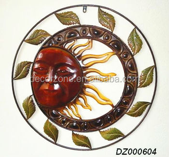 Wrought Iron Sun Face Wall Decorations For Home