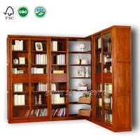 BK1007- Concise design solid wood office storage 5 drawer lateral file cabinet