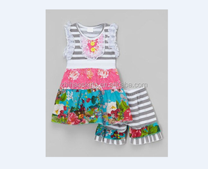 girls summer two pieces cotton outfit childrens clothing set boutique kids clothes remake baby girls cotton outfit girls clothes