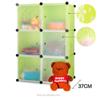 2015 new year double armoire 6 cubes folding small pink toys storage cubes FH-AL0023-6