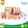 Hot melt adhesive custom printed logo kraft paper sealing tape rolls