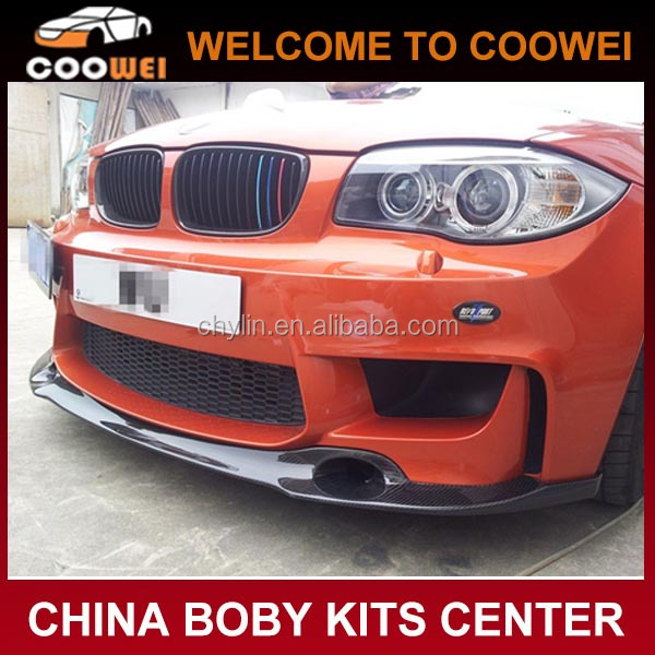 RZ Style 2012UP E82 Carbon Fiber Front Lip For BMW E82 M Bumper
