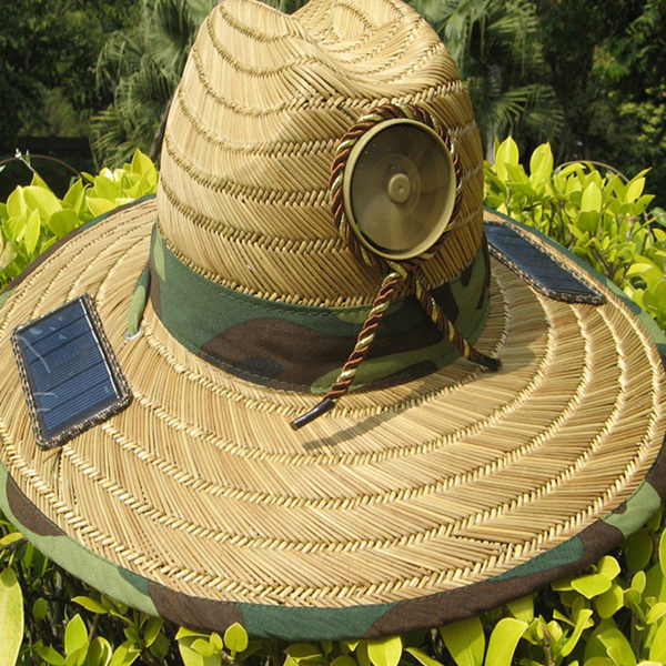 Solar Powered Fan Sun Hat Cap Lierihattu With Cooling Cool