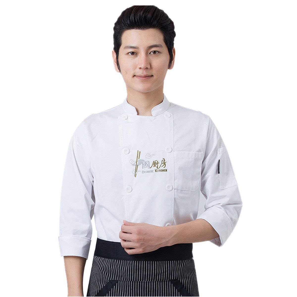 Unisex Sushi Chef Coat Sleeve Kinomo Japanese Restaurant Uniform Jacket Ties Up Big Clearance Sale Uniforms & Work Clothing Other Uniforms & Work Clothing
