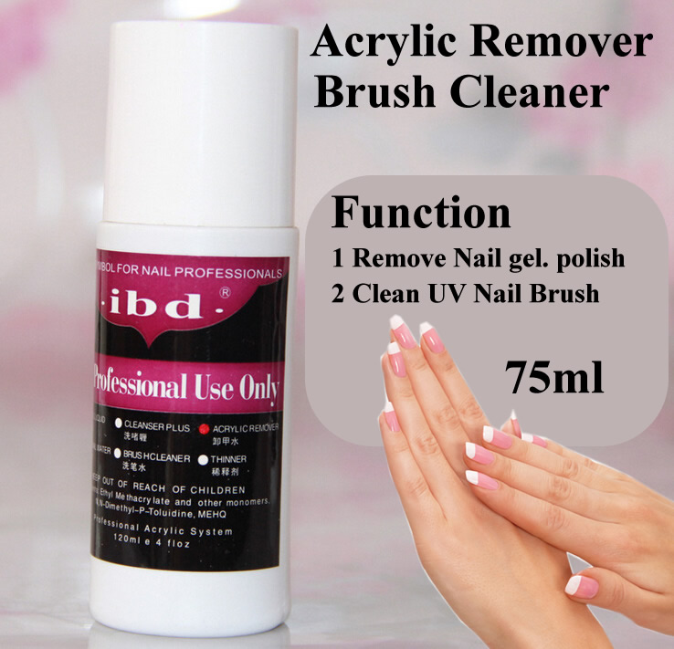 cliner nails  Wholesale Ibd 75ml UV Gel Polish Acrylic Remover And Brush Cleaner ...