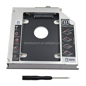 "Hard Drive Enclosure Aluminum 2nd HDD Caddy 12.7 mm Box SATA 3.0 2.5"" For HP Compaq 6530B 6535B 6730B 6730S 6735B 6735S Optibay"