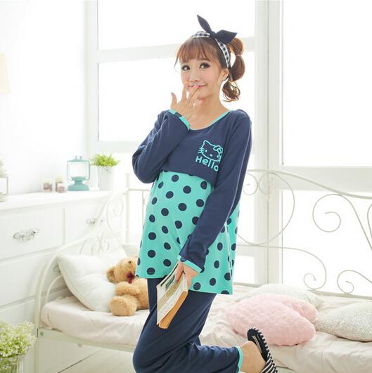 a87a67d0ff401 Get Quotations · New maternity pyjamas set gravida clothing homewear pregnant  ladies sleepwear nightwear free shipping