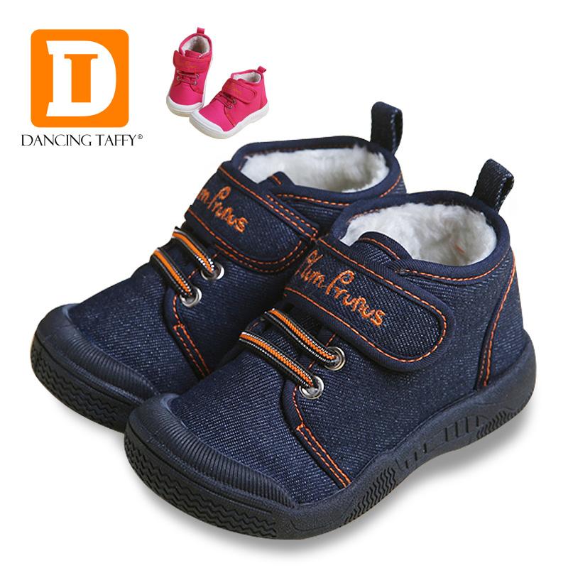 c0197a7f09c99 ... Nouveau Automne Bébé Chaussures 2017 Occasionnels Demin Jeans Enfants  Bottes D hiver Toile En Caoutchouc Garçons