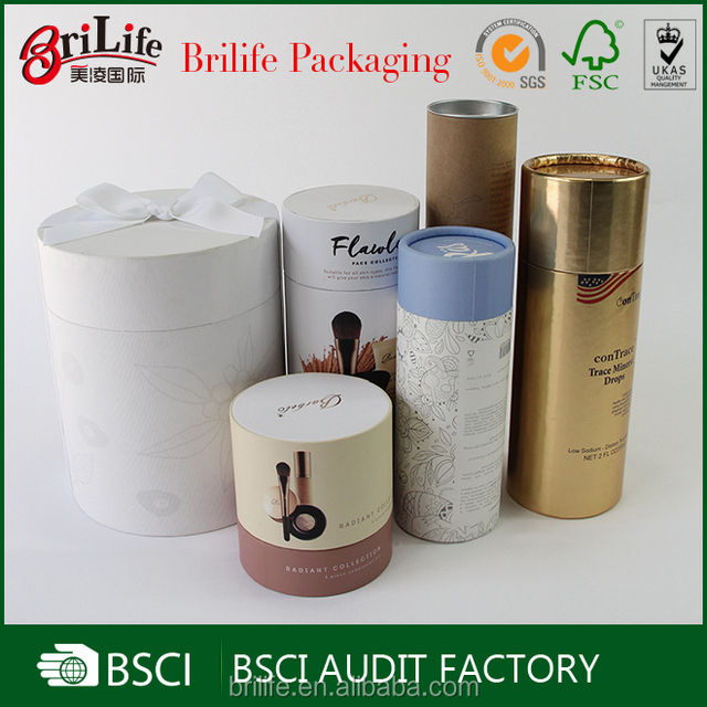 Custom Fancy logo printed packaging kraft paper tube