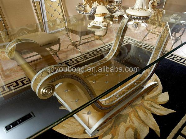 0016 Italien Luxushotel Furnitrue Design Antike Möbel Tisch Glas