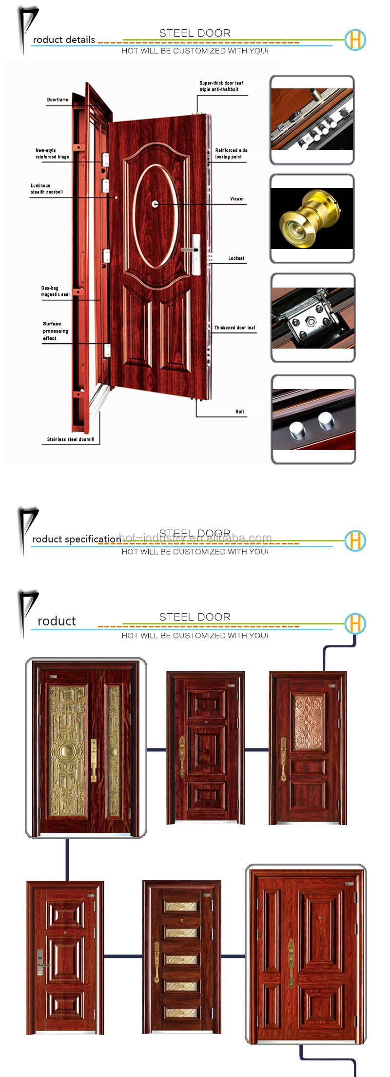 New Products Lowes Wrought Iron Security Door Residential Steel ...