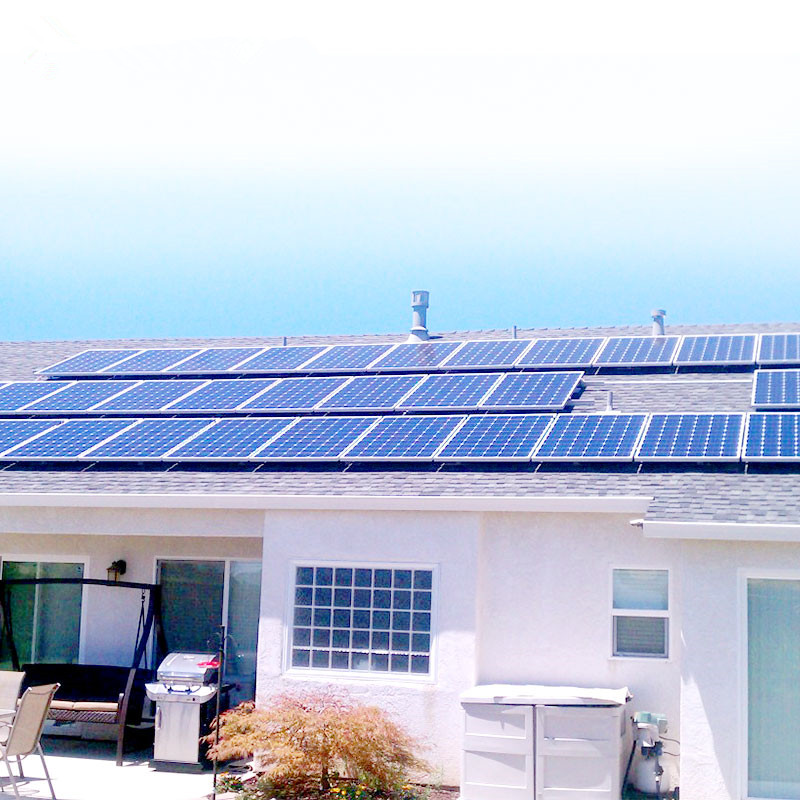 2020 hot sale 5kw Solar Panel System Solar Power system Home 5 kw Off Grid Solar Power Generator 5kw pv system